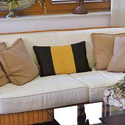 East Urban Home Boston Hockey Linen Striped Lumbar Pillow Lumbar Pillow Cover Stripe Throw Pillow East Urban Home