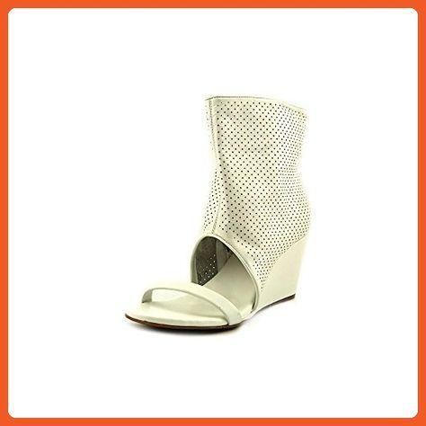 Cheap Bcbgeneration Mullen Open Toe Leather White Wedge Heel For Women Online