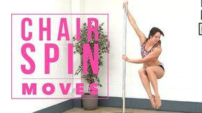 Pole Dance Moves From A Chair Spin Pole Dance Moves Pole Dancing Videos Pole Dancing