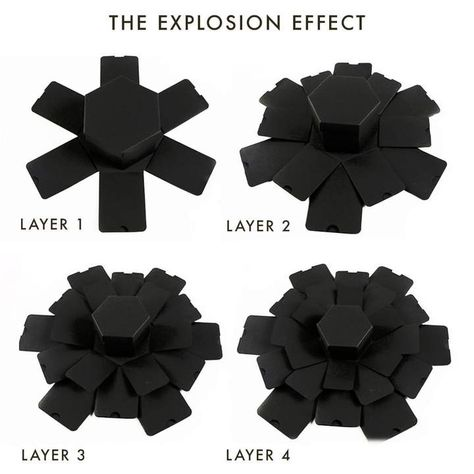 Make it Mine's Customizable Hexagon Explosion Gift Box