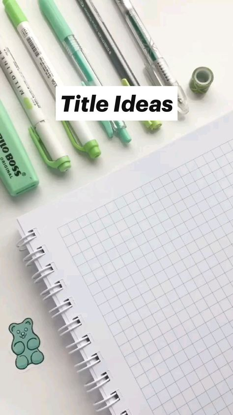 Title Ideas For Students
