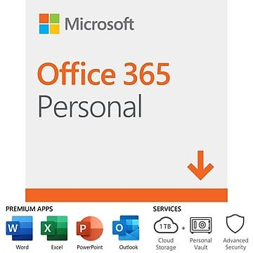 Microsoft Office 365 Personal 12 Month Subscription For Pc Mac 1 User Download Dlm3pzg3qwk3plb Office 365 Personal Microsoft Office Office 365