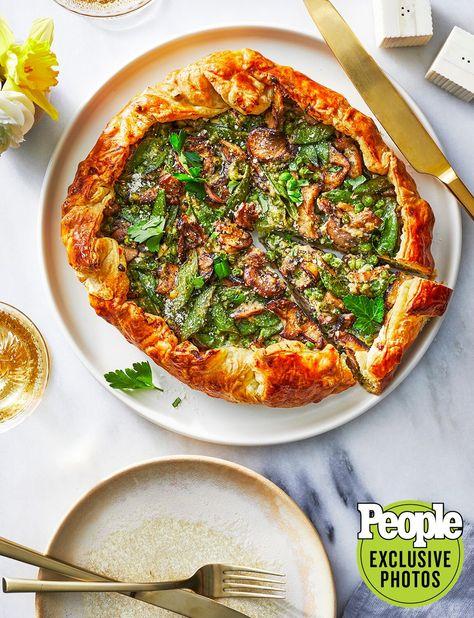 Wild-Mushroom Crostata with Peas & Pecorino Easter Recipe