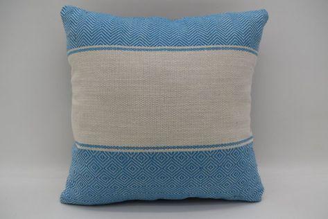 Blue Pillow Cover Throw Pillow 12x12