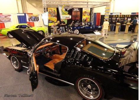 65 Ford Mustang Fastback Beige And Black Custom Interior Orange Tan Brown Console Door Panels Mustang Fastback Ford Mustang Fastback Mustang
