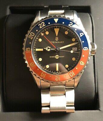 Steinhart Ocean 39 Vintage Gmt Premium Blue Red Keramik Watch Sale Steinhart Watch Vintage Watches