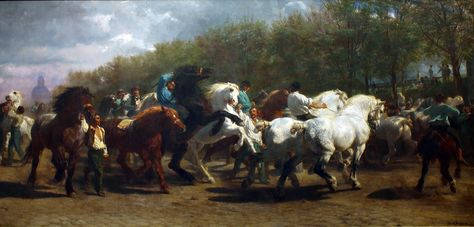 The Horse Fair by Rosa Bonheur, one of my absolute favorite in the Metropolitan Museum of this phenomenal woman artist