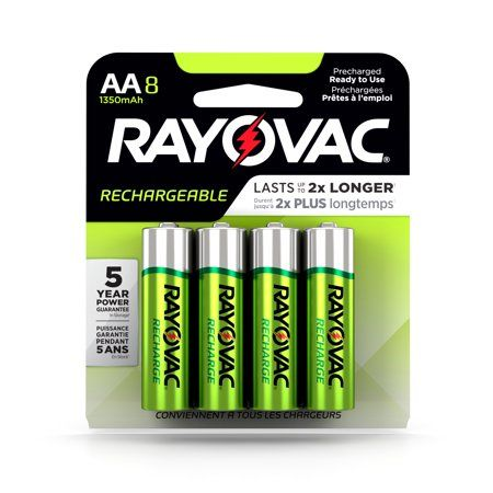 Rayovac Recharge Nimh Aa Batteries 8 Count Multicolor Nimh Recharge Rechargeable Batteries