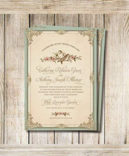 Wedding Invitations Vintage Weddings In 2020 Wedding Invitations Diy Vintage Vintage Wedding Invitations Vintage Wedding Invitation Wording