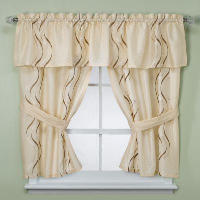 Buy Croscill Dante Bathroom Window Curtain Pair From Bed Bath