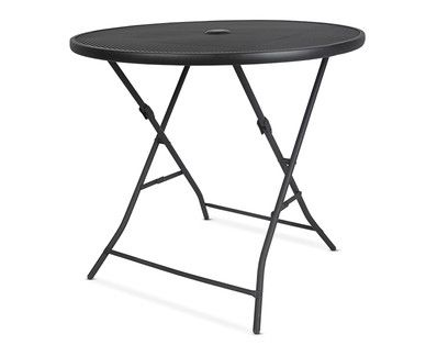 Aldi Us Gardenline Steel Mesh Dining Table Dining Table Table