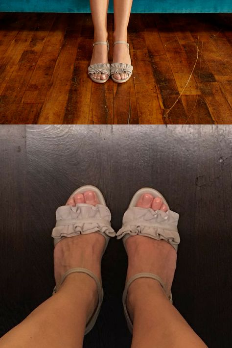 23b6ab5735d5e Sandals for bunion sufferers! This fab kitten heel sandal in pale pink  features gorgeous frills and is suitable for up to large bunions, or  moderate bunions ...