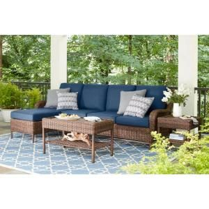 Phenomenal Hampton Bay Cambridge Brown Stationary Wicker Outdoor Lounge Dailytribune Chair Design For Home Dailytribuneorg