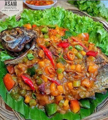 Bawal Asam Manis Masakan Simpel Saus Ikan Resep Masakan Indonesia
