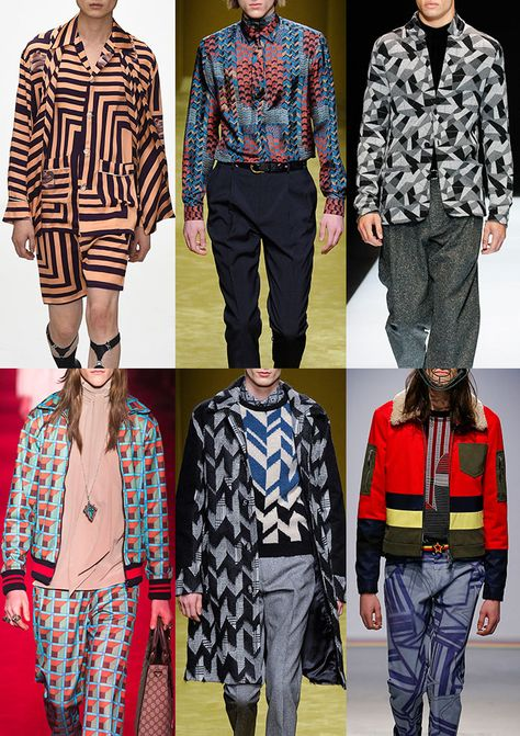 Patternbank brings you the Menswear catwalk collections for Autumn/Winter where the team have put together the strongest print trends together wit
