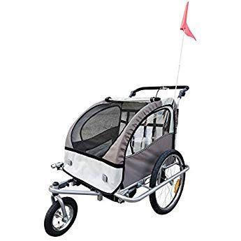 Homcom 360 Drehbar Kinderanhanger 2 In 1 Fahrradanhanger Jogger 5