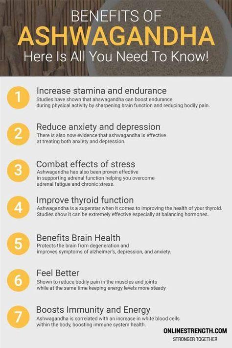 Health Benefits of an adaptogen, Ashwagandha #health #wellness #adaptogens