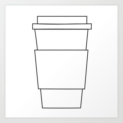 Free Latte Coffee Cup Template - Large Template City Mug