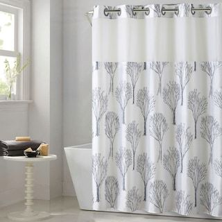 Hookless Modern Tree Shower Curtain With Liner Kohls In 2020 Hookless Shower Curtain Tree Shower Curtains Farmhouse Shower Curtain