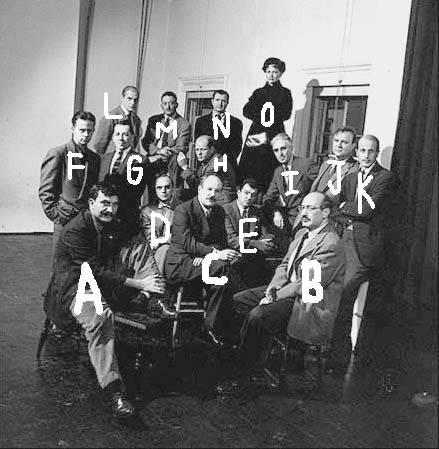 Irving penn group portrait of vogue photographers slocum estate locust valley new york from left to right serge balkin cecil beaton not yet