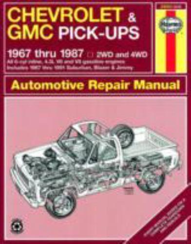 Chevrolet Gmc Pick Ups 1967 Thru 1987 Haynes Repair Manual 1850107645 Ebay Repair Manuals Automotive Repair Gmc
