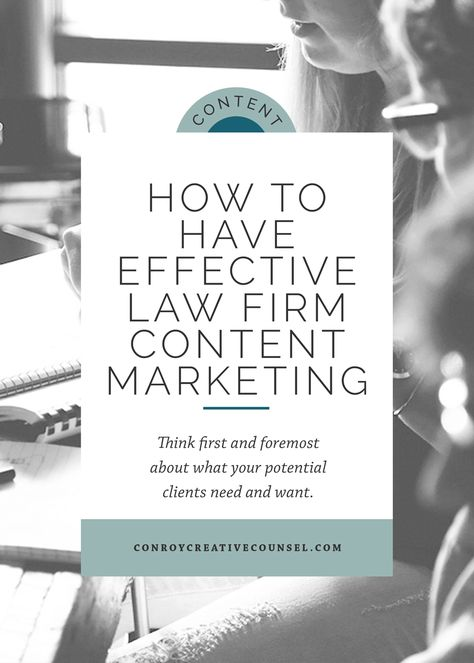How To Have Effective Law Firm Content Marketing   Conroy Creative