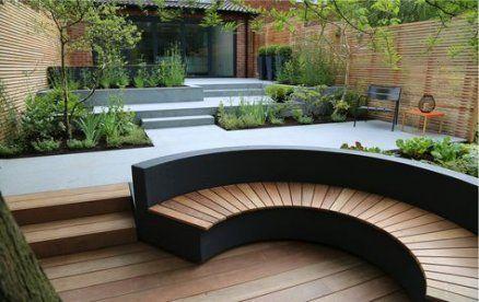 52 New Ideas For Curved Bench Seating Built Ins Patio Garden Design Terrace Garden Design Garden Seating
