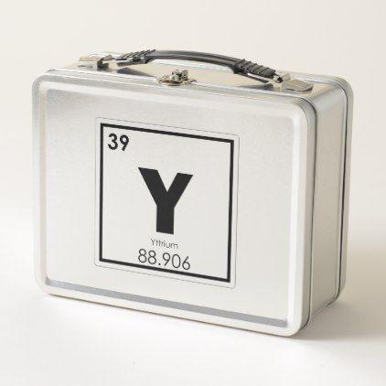 Yttrium Chemical Element Symbol Chemistry Formula Metal Lunch Box