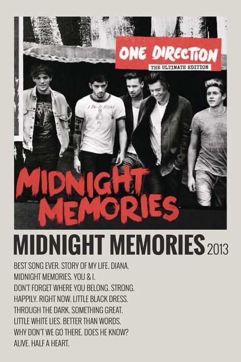 MIDNIGHT MEMORIES - Polaroid poster