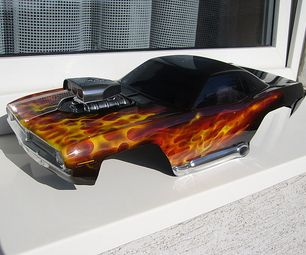 How to Paint True Fire for RC Car Bodies - Airbrushing, Airbrush: This is how to apply the True fire painting technique to rc car bodies.