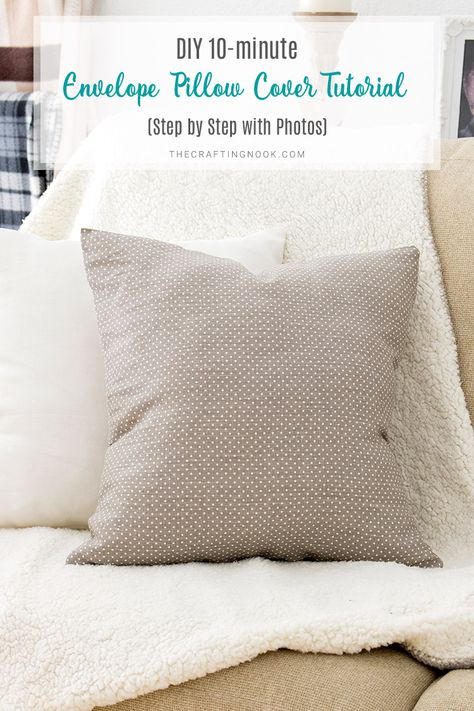 DIY 10 minute Envelope Pillow Cover Tutorial (Step by Step