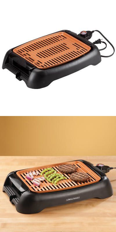 Nonstick Ceramic Copper 13 Countertop Electric Grill By Hmp Best Charcoal Grill Best Portable Grill Electric Grill