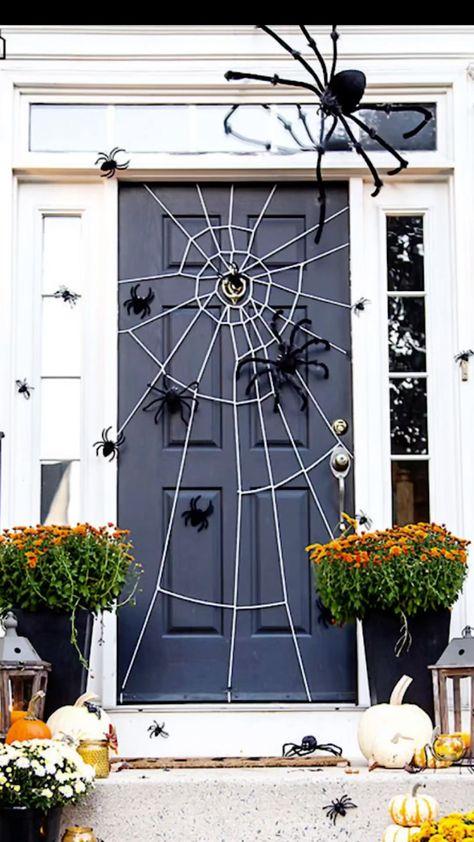 Halloween Spider web on Door