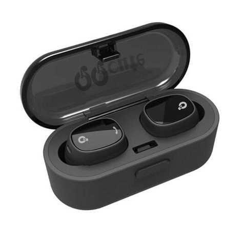 5f53062c8ff QQCute Twins Wireless Bluetooth Headset V4.1 Bluetooth Headphones with  Built-in Mic and Portable Charging Case Noise Cancelling Stereo Mini earbuds  for ...