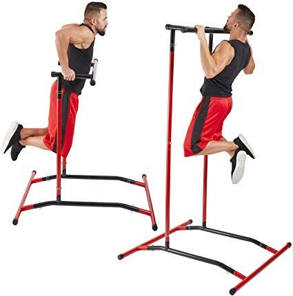 Amazon Com Gobeast Pull Up Bar Free Standing Dip Station