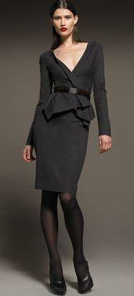 Donna Karan Belted Cascade Jacket & Drape Back Pencil Skirt