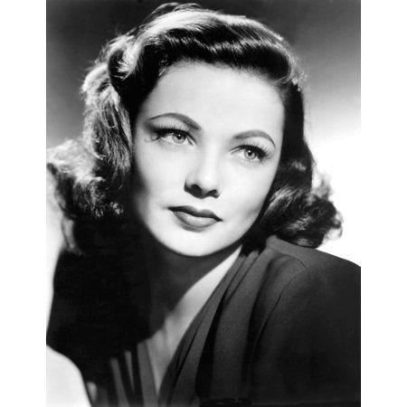 Gene Tierney Canvas Art 16 X 20 Walmart Com 1940s Makeup Makeup History Womens Hairstyles