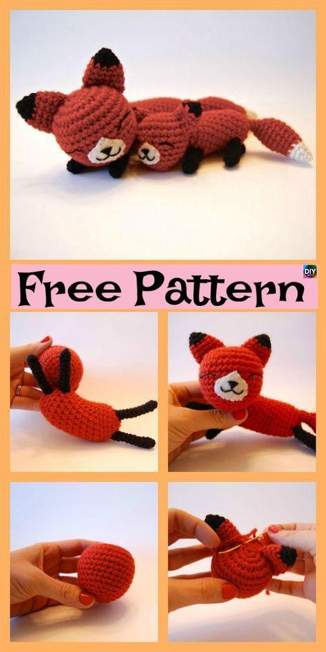 Crochet Mama Baby Foxes - Free Pattern | Amigurumi Animals | Crochet