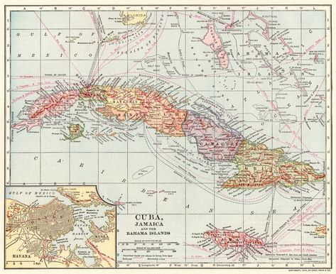 1907 antique map of cuba vintage collectible bahamas jamaica atlas 1907 antique map of cuba vintage collectible bahamas jamaica atlas map 5564 gumiabroncs Images