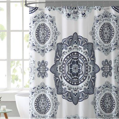 Haskell Boho Bouquet Single Shower Curtain Floral Shower