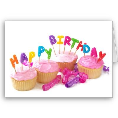 Happy Birthday Cupcakes Greeting Cards