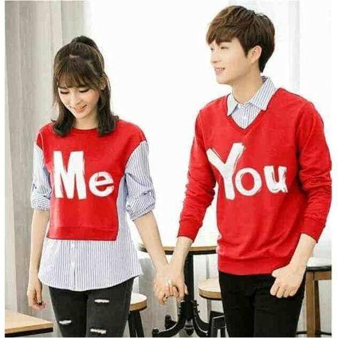Baju Kapelan Sweater Kemeja Couple - Kaos Kembaran ( Pasangan   Kapel   Sama    Sepasang ) 9284cbf409