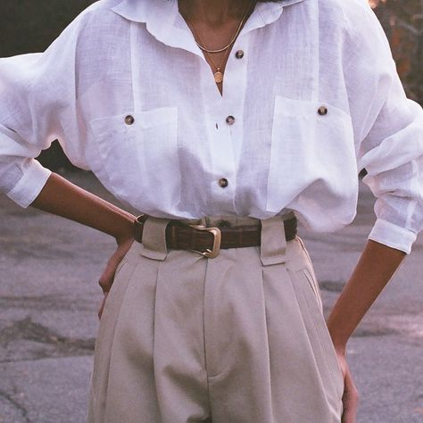 """Na Nin Vintage on Instagram: """"Na Nin Gwen button up in white linen paired with cotton Townes trousers on film ⭐️"""" - #button #cotton #film #Gwen #instagram #linen #Nin #paired #Townes #Trousers #vintage #white"""
