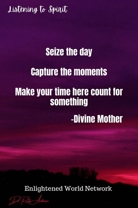 Our time on earth is short, with people to love, and opportunities to explore and learn. When grieving is prolonged to the point that we are no longer living our lives, maybe it is time to reexamine how our time and energy are being spent. Divine Mother reminds us that it is okay to set the grieving for a loved one aside and boldly go on living. For podcasts helping with grief and loss, follow us and check out Enlightened World Network #spiritualtransformation #selfacceptance #DrRuthAnderson