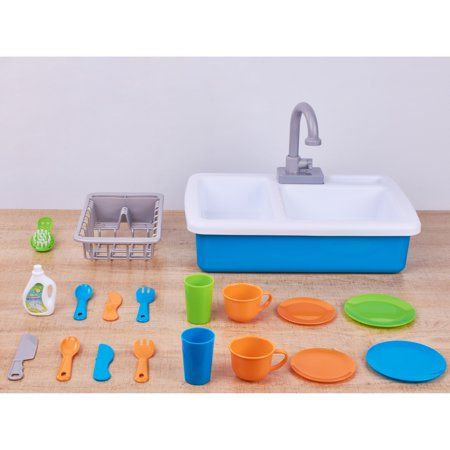 Spark Create Imagine Kitchen Sink Play Set Designed For Ages 3 Walmart Com Diy Art Projects Playset Kitchen Sink
