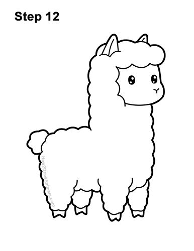 Download How To Draw Llama Easy Mp3 How To Draw Llamas In 2020