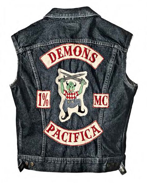 Motorcycle club cuts (or vests) and their assorted, colorful club colors (or patches) represent a unique form of American folk art embodying the freedom and nonconformity of bikers.