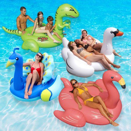 Swimline Vinyl Animal Kingdom Extra Large Pool Float Multicolor Walmart Com Swimming Pool Floats Animal Pool Floats Large Pool Floats