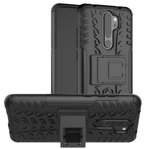 Shop Stylish Dual Layer Pc Tpu Casing Cover With Kickstand For Xiaomi Redmi Note 8 Pro Black From China Protective Cases Xiaomi Silicone Phone Case