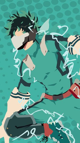 Izuku Midoriya Minimalist My Hero Academia 4k Hd Mobile Smartphone And Pc Desktop Laptop Wallpaper 3840x2160 1920x1080 2160x3 Hero My Hero Hero Wallpaper